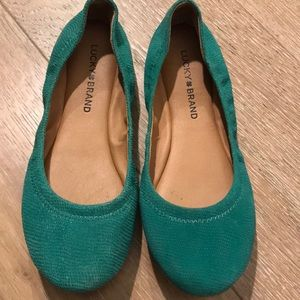 Lucky Brand leather ballet style shoes-never worn